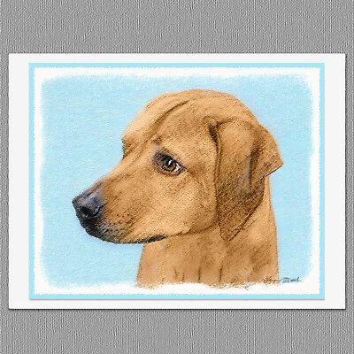 6 Rhodesian Ridgeback Dog Blank Art Note Greeting Cards