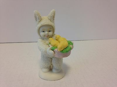 Dept 56 Snowbabies Snowbunnies Figurine / A Basket Of Joy