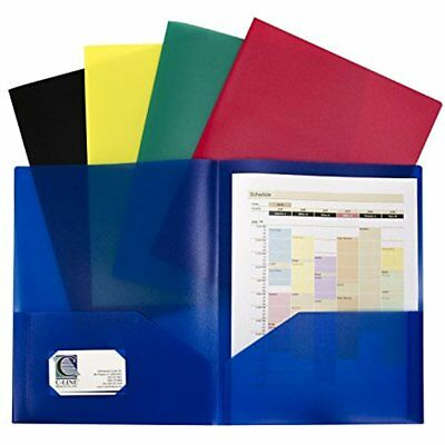 C-Line Two-Pocket Heavyweight Poly Portfolio, For Letter Size Papers, Includes