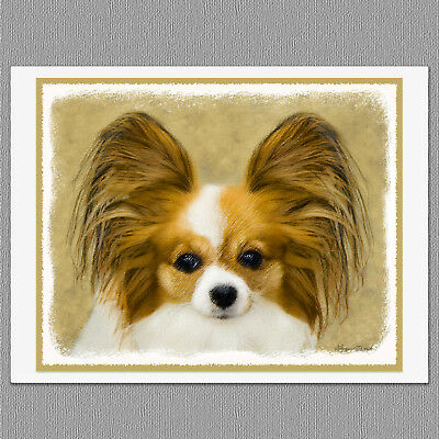 6 Papillon Dog Blank Note Greeting Cards