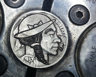 Coalburn classic Hobo Nickel  jewelry Love token OHNS   smoking brave