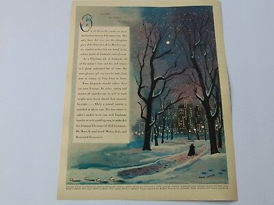 1941-De Beers Consolidated Mines Diamonds make a gift Christmas- print ad -A715