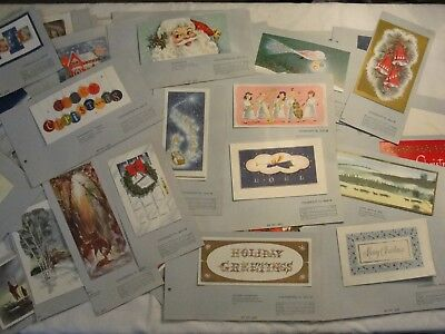 Vintage Lot Of 53 Sample Book Christmas Greeting Cards; 1958 Mid Century Modern