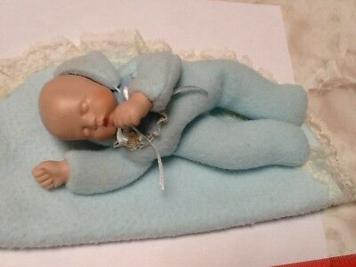 Baby Boy Bean Bag Doll w/Porcelain face/hands
