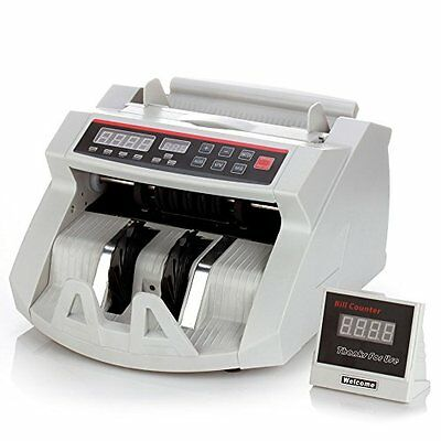 Cash Bill Counter Money Currency Counting Bank Machine Counterfeit Detector With