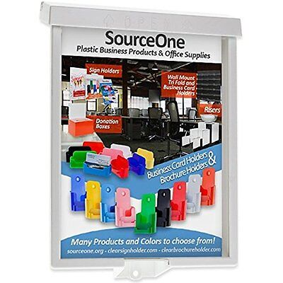 Source One 6-Pack Brochure/Flyer Holder Outdoor Realtor Style Info Box