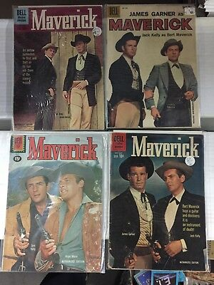 MAVERICK Collection Lot (4 Different Comics) DELL, FREE SHIPPING, Read !!