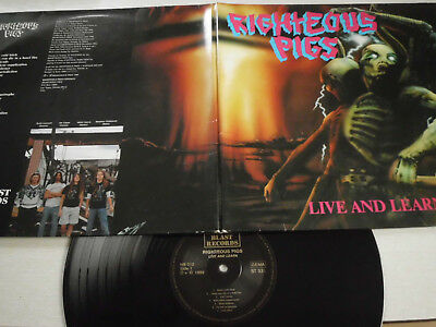 RIGHTEOUS PIGS -Live and learn- Metal/Grindcore-LP!!!v/g+++!!!1989