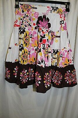 girls Place 1989 Size 10 Floral Pattern Tiered Skirt Cotton