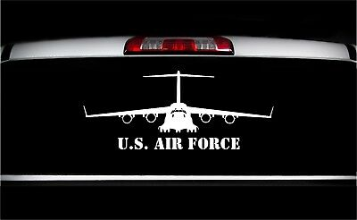 USAF C-17 AIRCRAFT Stickers Front View Military Graphics Decal Sticker Car