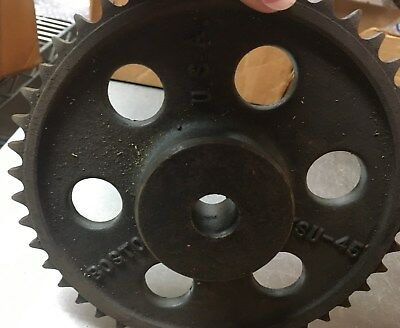 Boston Gear KSU-45 Steel Sprockets, LOT OF 2, NOS, Metal Art, Steampunk, Indust