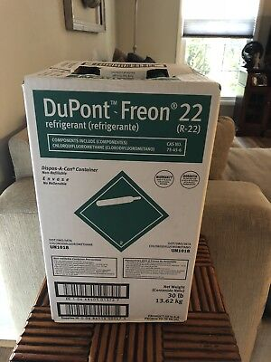 R22 Refrigerant 30lb NEW Freon Dupont Pay By 3 PM Guaranteed Same Day Shipping