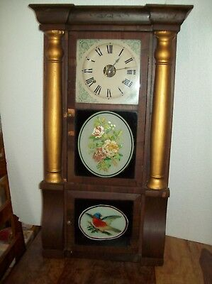 "Seth Thomas ""Antique"" Weighted Mantel Wall Clock Appears to be in Working Order."