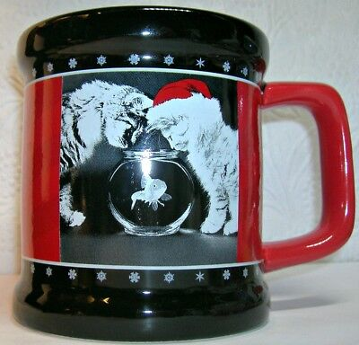Christmas Kitten Mug by Artist Keith Kimberlin Signature Fish Bowl