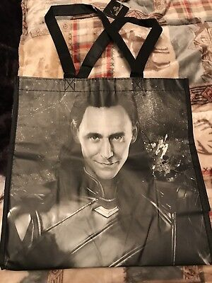 Loki Marvel Reusable Tote Bag Shopping Tom Hiddleston