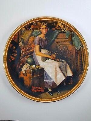"""Norman Rockwell """"Dreaming in the Attic"""" Limited Edition – Knowles Fine China"""