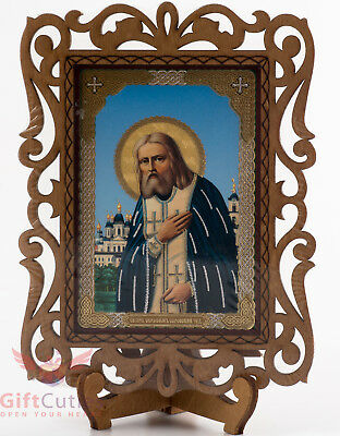 Wooden Icon of Saint Seraphim of Sarov Серафим Саровский Orthodox Christianity
