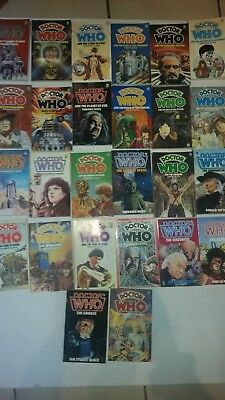 26 x Rare Vintage Retro Dr Who Target Books 1974 onwards. Gift for Dr Who Fans !