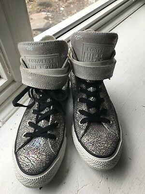Converse Chuck Taylor All Star Metallic strapped High-Top Sneakers~Size 7  Woman