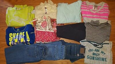 HUGE lot of girl clothes size 7 8 7/8 Shirts Jeans Fall Winter School