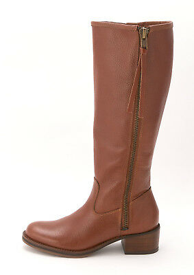 c25078056c1 Lucky Brand Womens HYPERR Leather Almond Toe Knee High Fashion Boots