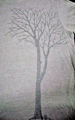 Belvedere T-Shirt Men's Gray Short Sleeve Size Large w/Silver Graphics New NOS