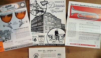 FIRST Ludwig Drum Co Catalog after Buy Back HISTORICAL WFL/LUDWIG