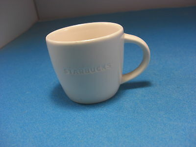 Starbucks 2010 3 fl oz White Espresso Tous Droits Reserves Coffee Cup
