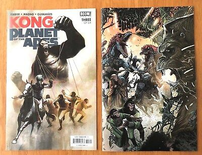 Kong  Planet of the Apes # 3 Covers A & B 1st Print Boom Studios 2018 NM