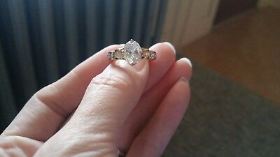 18kt Yellow Gold Plated Promise Ring Size 5 - 1.75ctw, LIFETIME WARRANTY
