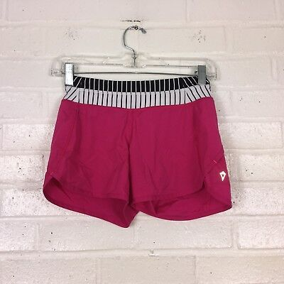 Ivivva Speedy Shorts Girls 10 Pink Striped Work Out Running Shorts EUC
