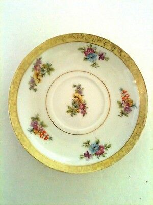Vintage Made in Occupied Japan 1940's Porcelain Saucer with Flowers