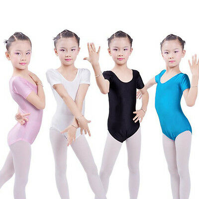 Toddler Girls Kids Gymnastics Ballet Dress Leotard Tutu Skirt Dancewear 3-8Years