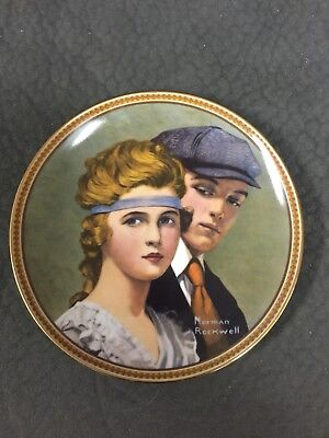 """""""Meeting on the Path"""" collector plate by Norman Rockwell limited edition"""
