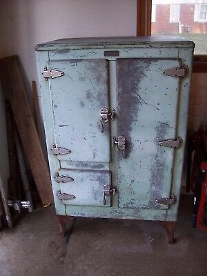 Vintage McKee Refrigeration Co., Metal Iced-Air Ice Box