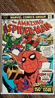 The Amazing Spider-man #150 (1975)  Kingpin, Sandman, Vulture!  PRICED TO SELL!