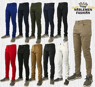 Men Jeans Slim Stretch Fit Slim Fit Trouser Casual Skinny Pants
