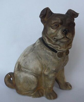 Antique Pug Dog Figure - Composition - Wonderful Old Item