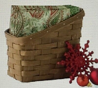 ☃   Longaberger 2018 Tall NAPKIN Basket    ☃ NEW  With choice of colors ☃