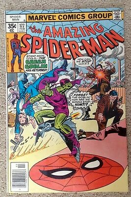 The Amazing Spider-man #177 (1978) Green Goblin Returns Nice Copy PRICED TO SELL