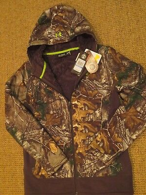 Under Armour Ua  Boy's  Winter  Jacket Xl Youth   X Large Camo  Fleece Lined New