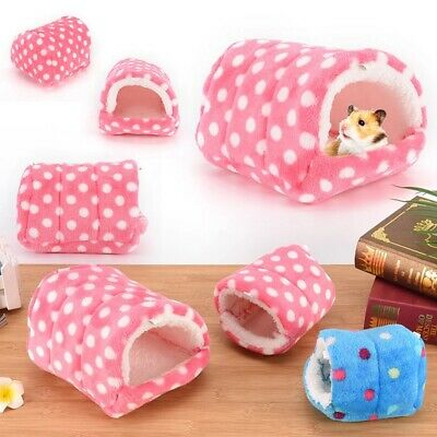 Hamster Chinchilla Hammock Warm Plush Cloth Guinea Hanging Bed Cage Mice House