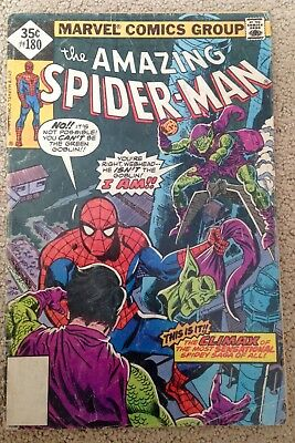 The Amazing Spider-man #180 (1978)  Green Goblin!  Affordable!  PRICED TO SELL!