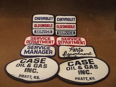 Vintage Chevrolet Oldsmobile & Department Employee Shirt Patches ~ 8