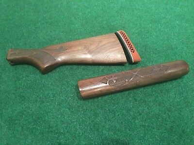 Remington 1100 1187 11-87 20 Ga Wood Stock Forend Red Pachmayr Recoil Butt Pad