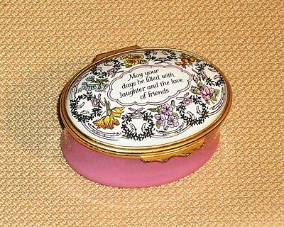 Vintage Hinged Trinket Box HALCYON DAYS ENAMELS England May Your Days 396s