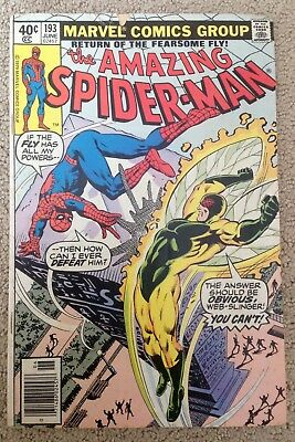 The Amazing Spider-man #193 (1979) The Fly Returns!  Affordable! PRICED TO SELL!