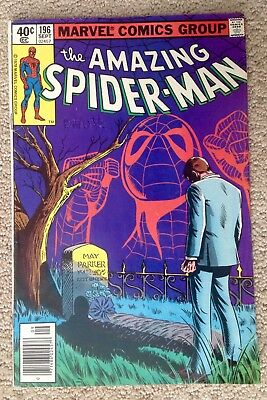 The Amazing Spider-man #196 (1979)  Aunt May's Fake Death!  PRICED TO SELL!