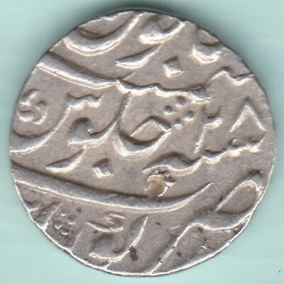 Mughal India - Mohammed Shah - One Rupee - Ex Rare Mint Coin