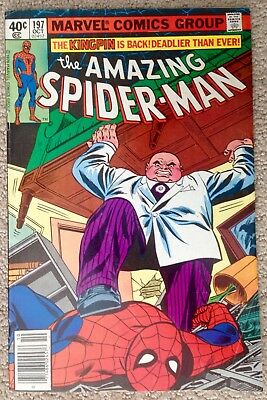 The Amazing Spider-man #197 (1979) Marvel! The Kingpin Is Back!  PRICED TO SELL!